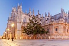 Séville Cathédrale pendant le début de la matinée Photo libre de droits