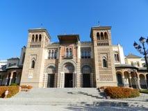 Séville, Espagne Pavillon Mudejar, arts et musée de traditions Stationnement de Maria Luisa photos stock