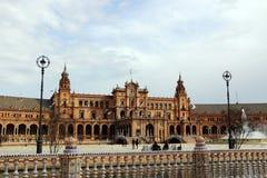 Séville, Espagne Place espagnole, Plaza de Espana Photographie stock