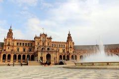 Séville, Espagne Place espagnole, Plaza de Espana Images stock