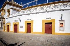 SÉVILLE - L'ESPAGNE : Plaza de Toros, vrai Maestranza Photos libres de droits