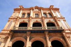 Séville, Plaza de Espana Palace, Espagne Photo stock