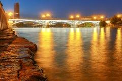 Séville Pont d'Isabel II Photographie stock libre de droits
