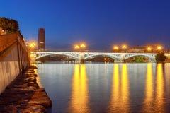 Séville Pont d'Isabel II Photo libre de droits