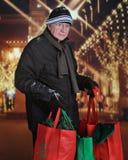 Sênior da Natal-compra Imagens de Stock Royalty Free