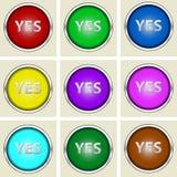 Sì bottoni Fotografia Stock Libera da Diritti