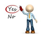 Sì e no. Fotografia Stock Libera da Diritti