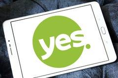 Sì logo della rete televisiva Fotografia Stock