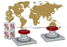 Sì o decisione economica di no illustrazione di stock
