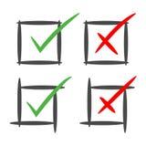Sì o nessuna casella di riepilogo del controllo Fotografia Stock Libera da Diritti