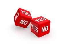 Sì o no? Immagine Stock Libera da Diritti