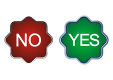 Sì o no Immagini Stock Libere da Diritti
