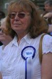 Sì referendum 2014 di Indy dello Scottish del sostenitore Fotografie Stock