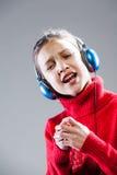 SÌ sono una piccola ragazza del cantante e sarò famoso immagine stock