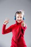 SÌ sono una piccola ragazza del cantante e sarò famoso fotografia stock