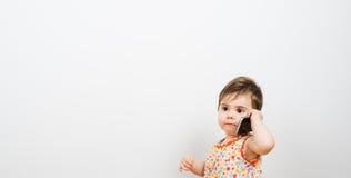 ¿Sí? Bebé llamada Foto de archivo