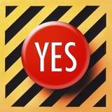 Sí botón en rojo Foto de archivo libre de regalías