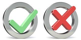Sí o No. ilustración del vector
