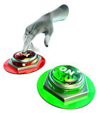 Sí y ningunos botones fijados Imagen de archivo libre de regalías