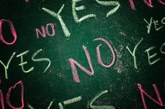 Sí y no Fotografía de archivo