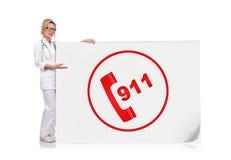 símbolo 911 Fotografia de Stock Royalty Free