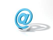 símbolo 3d do email Imagens de Stock