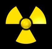 símbolo 3D radioativo ilustração stock