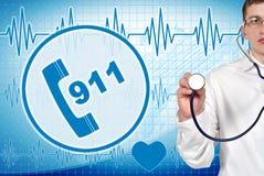 símbolo 911 Foto de archivo libre de regalías