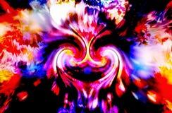 Símbolo abstracto de la energía de la mujer del espiral divino del doble ilustración del vector