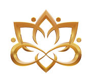Símbolo abstracto de la flor de Lotus Imagenes de archivo