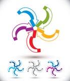 Símbolo abstracto de las flechas del bucle infinito, diseño gráfico Fotografía de archivo libre de regalías