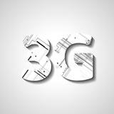 Símbolo abstracto de tres G Imagen de archivo libre de regalías