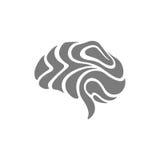 Símbolo abstracto del cerebro del icono del cerebro del símbolo del cerebro del extracto del icono del cerebro Fotografía de archivo libre de regalías