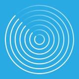 Símbolo abstracto del icono del radar Fotografía de archivo