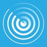 Símbolo abstracto del icono del radar Foto de archivo
