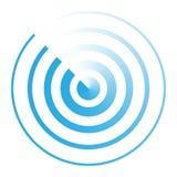 Símbolo abstracto del icono del radar Imagen de archivo