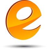 Símbolo abstrato de E. ilustração stock