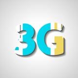 Símbolo abstrato de três G Imagens de Stock