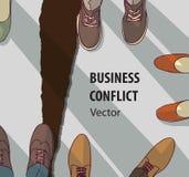 Símbolo abstrato do colapso do relacionamento do conflito do negócio Imagens de Stock Royalty Free