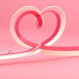Símbolo abstrato do coração feito da fita Fotografia de Stock Royalty Free