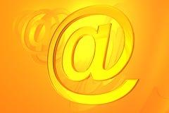 Símbolo abstrato do email Imagens de Stock Royalty Free