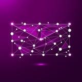 Símbolo abstrato do email sob a forma de um céu ou de um espaço estrelado, consistindo em pontos, em linhas, e em formas sob a fo Imagens de Stock Royalty Free