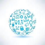 Símbolo abstrato do globo Imagem de Stock Royalty Free