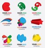 Símbolo abstrato do logotipo 3d Fotografia de Stock