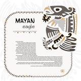 Símbolo abstrato do maya e do asteca de uma águia ilustração royalty free