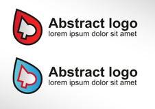 Símbolo abstrato do projeto do logotipo Imagens de Stock Royalty Free