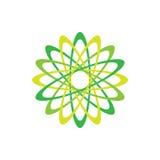 Símbolo abstrato do verde do ícone de Eco Ilustração do vetor no fundo claro Projeto gráfico da forma Conceito da beleza vivi Fotografia de Stock Royalty Free