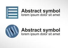 Símbolo abstrato/veneziana de simbolização do logotipo em duas variações Imagem de Stock
