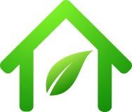 Símbolo agradável da casa verde Imagem de Stock Royalty Free