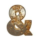 Símbolo aherrumbrado del metal y foto de archivo libre de regalías